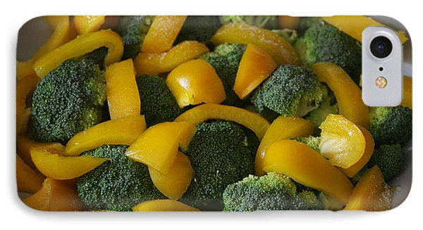 IPhone Case featuring the photograph Steamed Broccoli And Peppers by Vadim Levin