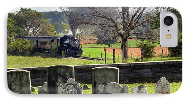 Steaming Past The Old Amish Cemetery IPhone Case