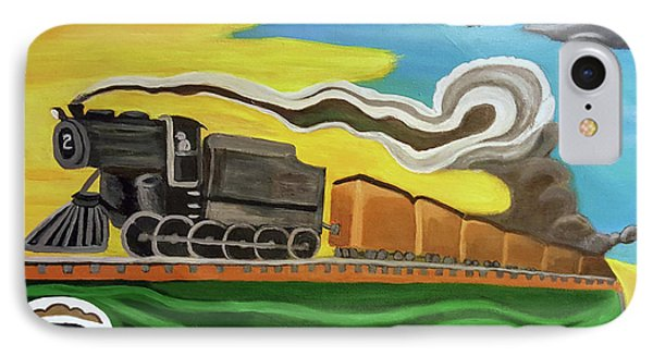 Steaming West Bound IPhone Case by Margaret Harmon