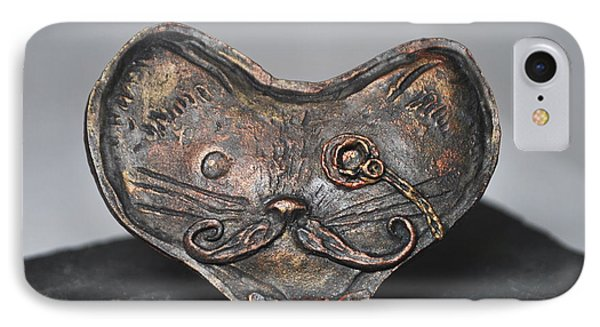 Steampunk Cat  IPhone Case by Reina Resto