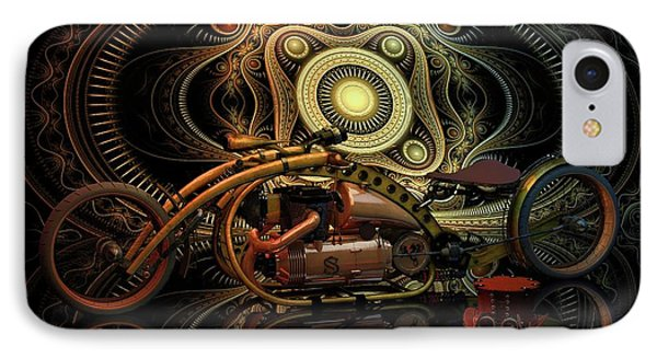 IPhone Case featuring the photograph Steampunk Chopper by Louis Ferreira