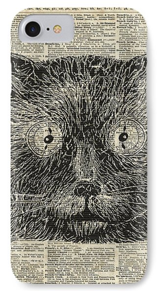 Steampunk Clock Cat Eyes IPhone Case by Jacob Kuch