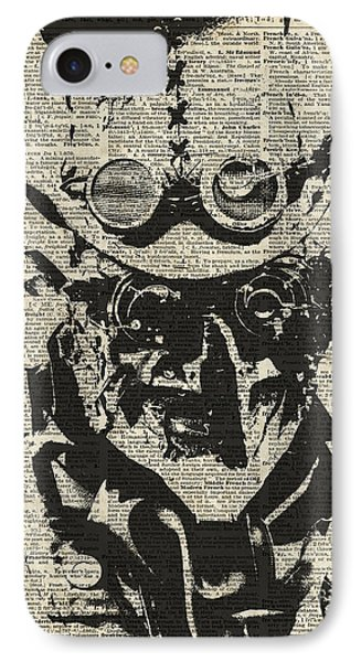 Steampunk Guy IPhone Case by Jacob Kuch