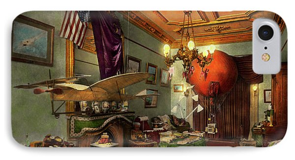 Steampunk - Hall Of Wonderment 1908 IPhone Case by Mike Savad