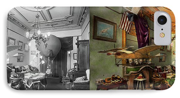 Steampunk - Hall Of Wonderment 1908 - Side By Side IPhone Case by Mike Savad