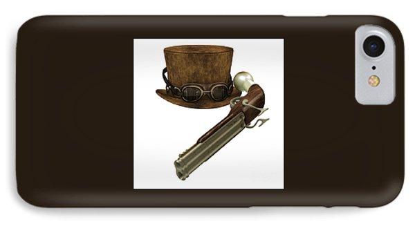 Steampunk Hat Goggles Gun IPhone Case