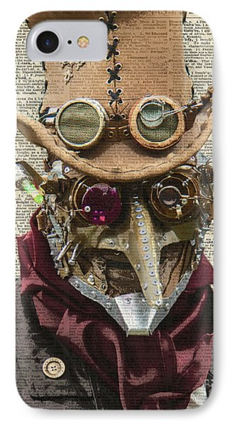 Steampunk Robot IPhone Case by Jacob Kuch
