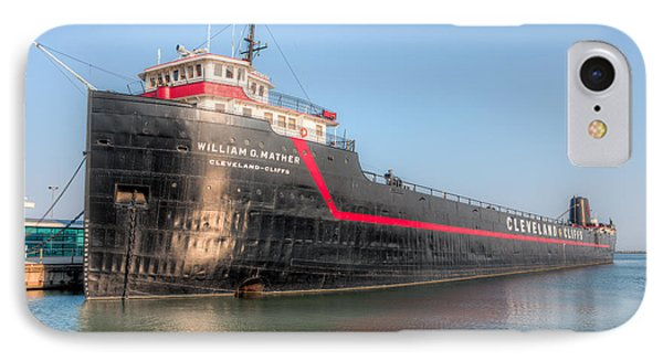 Steamship William G. Mather I Phone Case by Clarence Holmes