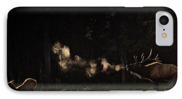 Steamy Breath Elk Bugle IPhone Case