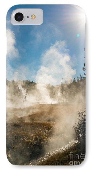 Steamy Sunrise Phone Case by Birches Photography