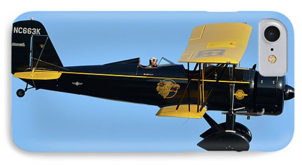 Stearman 4e Junior Speedmail Nc663k Chino California April 29 2016 Phone Case by Brian Lockett