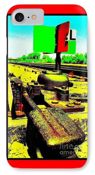 Steel Diesel Track Signal IPhone Case by Peter Gumaer Ogden
