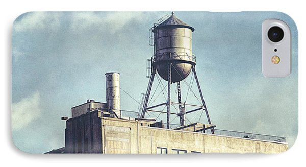 IPhone Case featuring the photograph Steel Water Tower, Brooklyn New York by Gary Heller