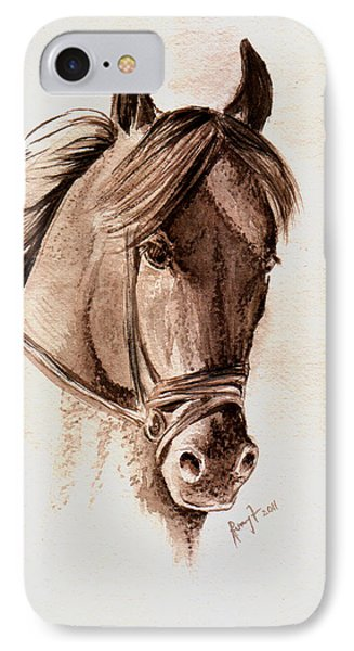 Steely Black Stallion Phone Case by Remy Francis