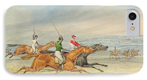 Steeplechasing IPhone Case by Henry Thomas Alken