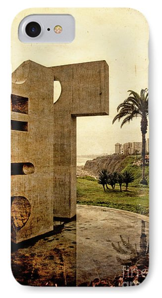 IPhone Case featuring the photograph Stelae In The Park - Miraflores Peru by Mary Machare