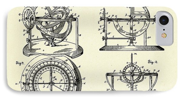 Stellar Compass And Great Circle Course Projector-1902 IPhone Case by Pablo Romero