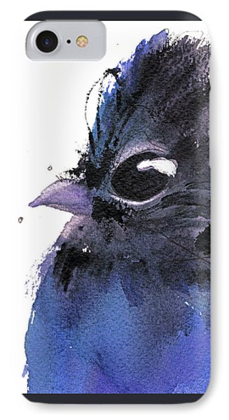 IPhone Case featuring the painting Steller Jay by Dawn Derman