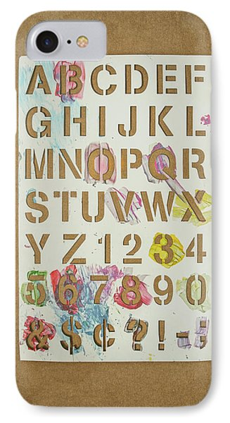 Stencil Alphabet Fun IPhone Case by Scott Norris