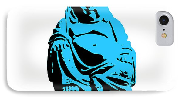 Stencil Buddha IPhone Case by Pixel Chimp