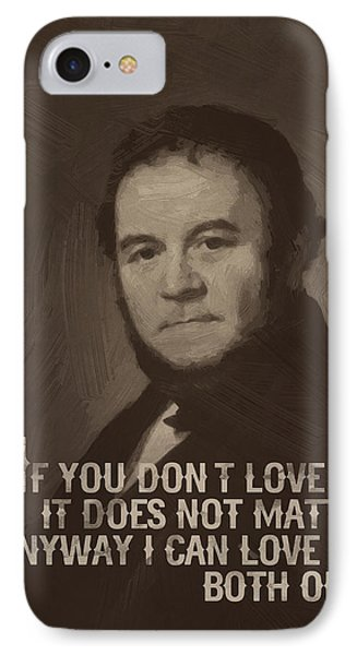 Stendhal Quote  IPhone Case by After Darkness