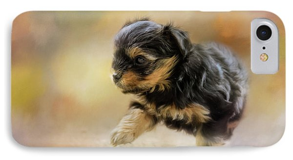 Step Into Spring Dog Art IPhone Case by Jai Johnson