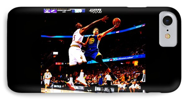 Steph Curry Left Hand IPhone Case by Brian Reaves