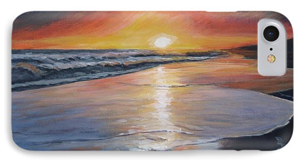 IPhone Case featuring the painting Stephanie's Sunset by Donna Tuten