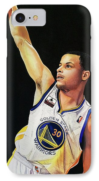 Stephen Curry Gold State Warriors IPhone Case by Michael  Pattison