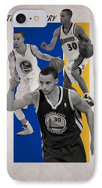 Stephen Curry Golden State Warriors Phone Case by Joe Hamilton