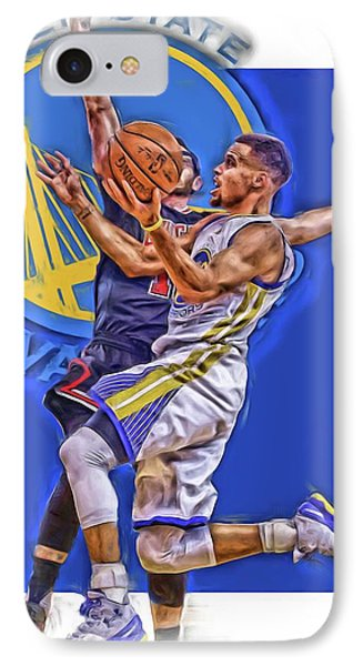Stephen Curry Golden State Warriors Oil Art IPhone Case