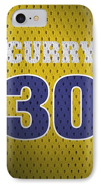 Stephen Curry Golden State Warriors Retro Vintage Jersey Closeup Graphic Design IPhone Case