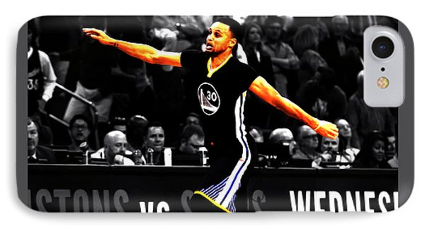 Stephen Curry Scores Again IPhone Case