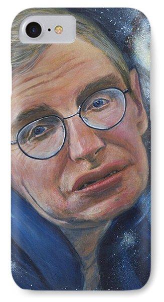Stephen Hawking Phone Case by Simon Kregar