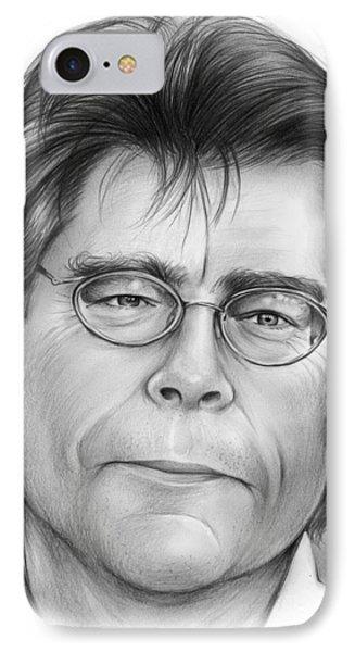 Stephen King IPhone Case by Greg Joens