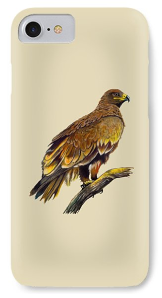 IPhone Case featuring the painting Steppe Eagle by Anthony Mwangi