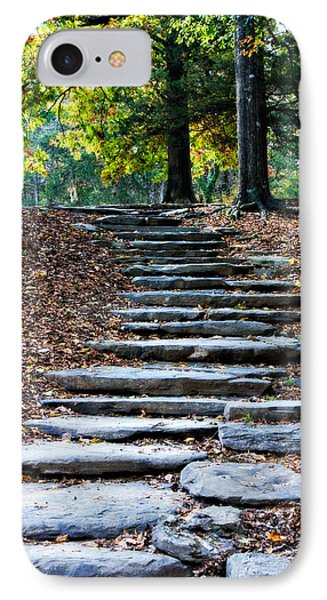 Steps Of Fall IPhone Case by Lana Trussell