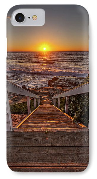 Steps To The Sun  IPhone Case by Peter Tellone