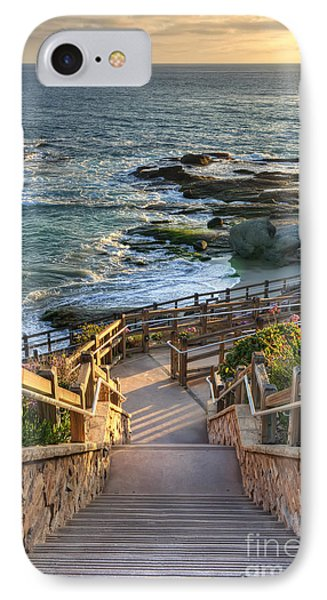 IPhone Case featuring the photograph Steps To Treasure Island Beach by Eddie Yerkish