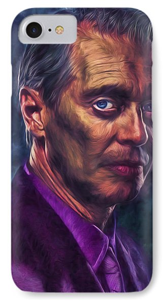 IPhone Case featuring the photograph Steve Buscemi Actor Painted by David Haskett