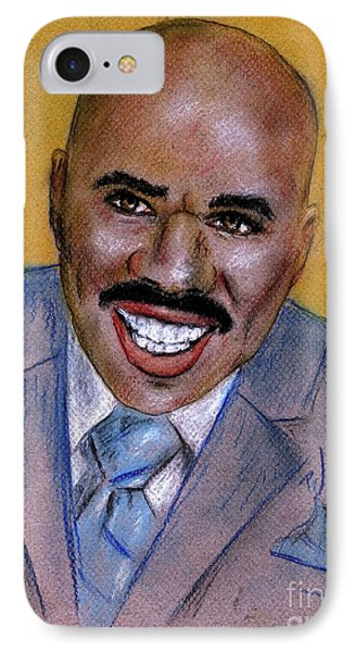 IPhone Case featuring the drawing Steve Harvey by P J Lewis