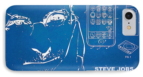 Steve Jobs Iphone Patent Artwork IPhone Case by Nikki Marie Smith
