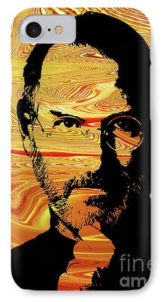 Steve Jobs IPhone Case by Prar Kulasekara