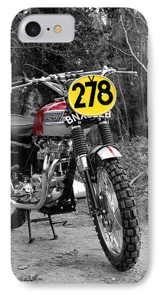 Steve Mcqueen Isdt Triumph IPhone Case