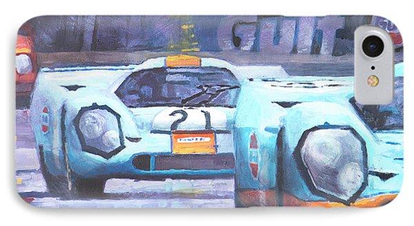 Steve Mcqueen Le Mans Porsche 917 01 IPhone Case by Yuriy Shevchuk