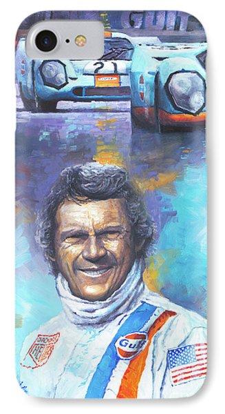 Steve Mcqueen Le Mans Porsche 917 IPhone Case by Yuriy Shevchuk
