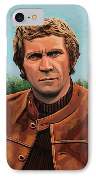 Steve Mcqueen Painting IPhone Case by Paul Meijering
