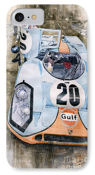 Steve Mcqueens Porsche 917k Le Mans IPhone Case by Yuriy  Shevchuk