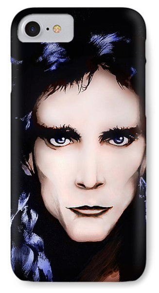 IPhone Case featuring the painting Steve Vai by Curtiss Shaffer