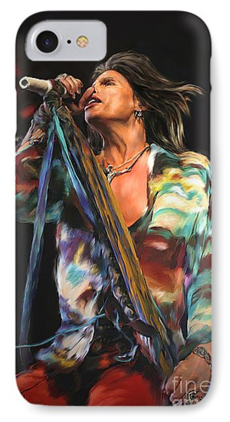Steven Tyler 01 IPhone 7 Case by Dawn Serkin